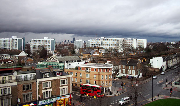 Brooding sky over Brixton
