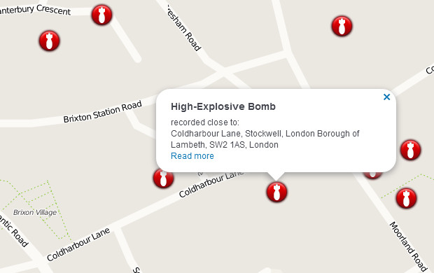 Did your street get bombed in the war? View Brixton WW2 bombsites on this fascinating website