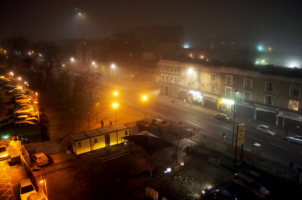 It's a foggy night in Brixton tonight