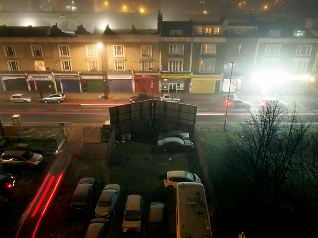 It's a cold, foggy night in Brixton tonight