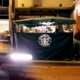Tax-swerving, slop-coffee peddling multinational zillionaires Starbucks could be staging a Ritzy-style branding of public Brixton space, with their logo now being foisted on to the back of the flower stall outside Brixton...
