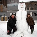 Brixton snow and snowmen, Windrush Square, Loughborough Park and Coldharbour Lane