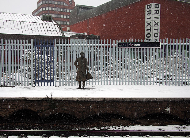 Brixton snow and snowmen, Windrush Square, Loughborough Park and Coldharbour Lane-14