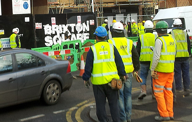 All out for the workers at Brixton Square!