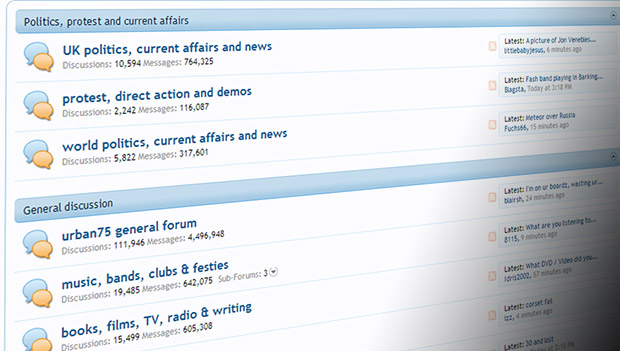 The urban75 forums notches up 12,000,000 user posts