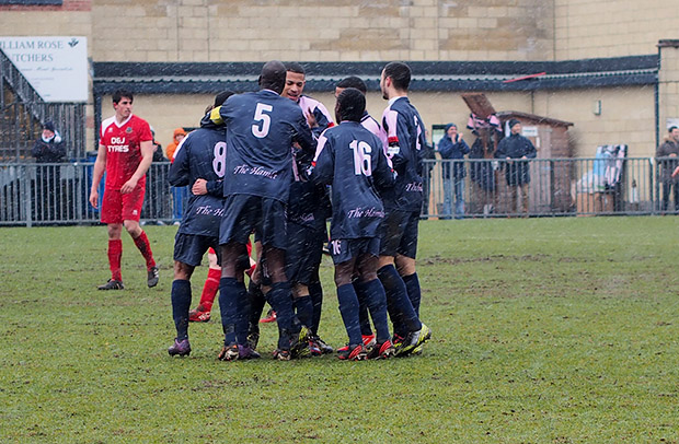 Dulwich Hamlet push for promotion with snow-battered win over Whitstable