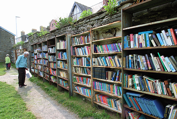 The honesty boxes of Hay on Wye, Wales