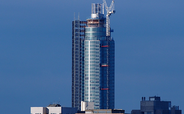 St George Wharf Tower (the Vauxhall Tower) in south London nears completion