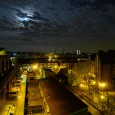 Full Moon over the Moorlands Estate, off Coldharbour Lane, Brixton.