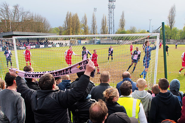 Dulwich Hamlet clinch promotion after nail-biting draw with Burgess Hill - and Champion Hill goes wild!