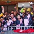 There were jubilant scenes of celebration at Champion Hill yesterday after Dulwich Hamlet clinched automatic promotion with a 1-1 draw against an in-form Burgess Hill FC.