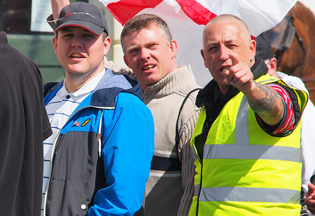 Heavily policed EDL march in Brighton; marchers completely outnumbered by counter-demonstrators