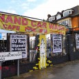 Located outside the JAMM venue on Brixton Road is the Hand Car Wash & Cafe, as advertised by two well seasoned plastic banners.
