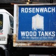 I loved the design on this truck supplying parts forRosenwach Wood Tanks in New York. Now the lastcompanymaking water tanks in New York City,Rosenwach have been in business since 1865,...