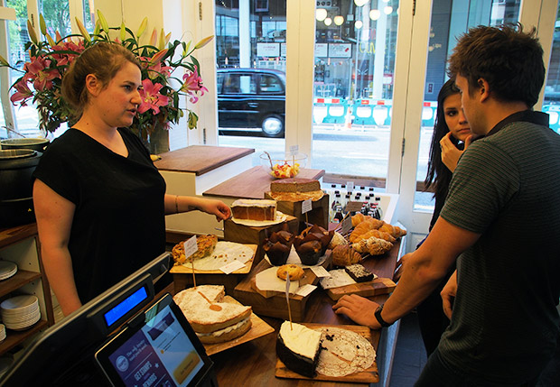 Coffee and cakes at Damson, St Giles High Street, central London