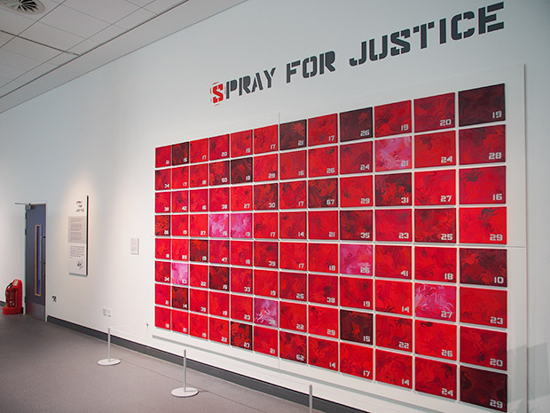 Spray for Justice, Liverpool - graffiti artist's memorial to football fans who died at Hillsborough