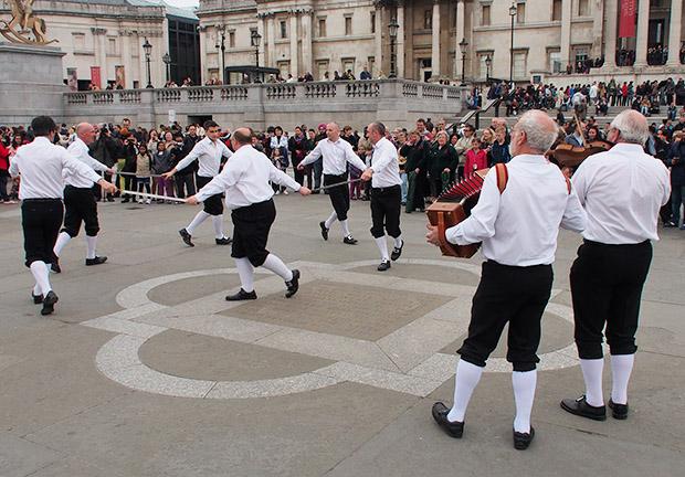 Morris Men take over Trafalgar Square for the Westminster Day of Dance 2013