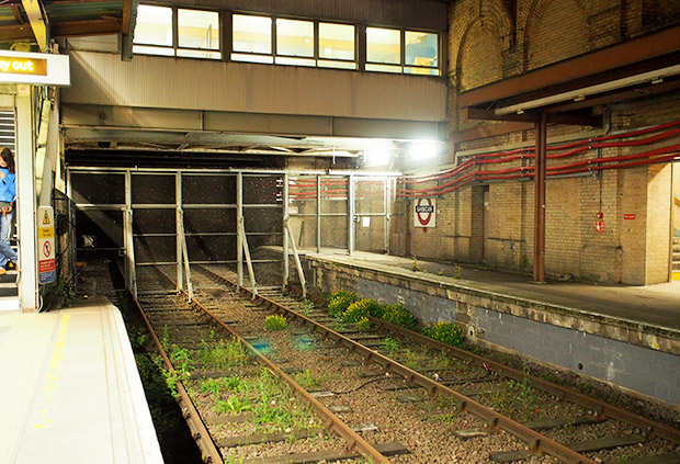 The disused Thameslink platforms at Barbican station, London