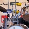 "Using a Gretsch Catalina Drum Kit with small 18"" bass drum"