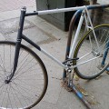 A hipster bike stripped bare, Brixton Police Station