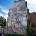 Fitzrovia mural, Whitfield Gardens, off Tottenham Court Road, W1