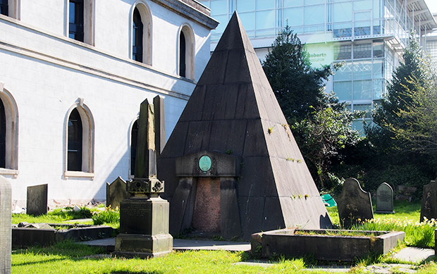 The curious Pyramidal tomb of William Mackenzie in Liverpool