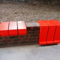 Aldgate Experiments and the red temporary wall seats