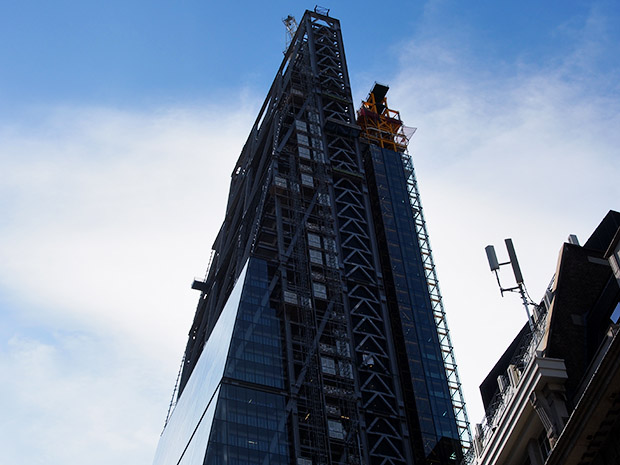 London's Cheesegrater skyscraper topped out and due to open next year