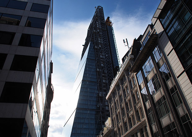 Photos: London's Cheesegrater skyscraper topped out and due to open next year