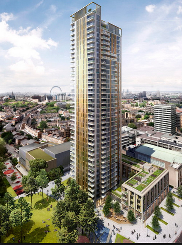 One The Elephant: 37 storey residential tower in Elephant and Castle with zero affordable units