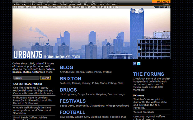 urban75 website notches up 120 million page views in just three years