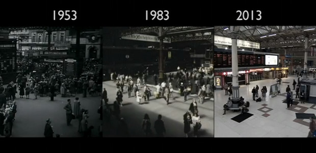 Fabulous rail footage: London to Brighton train ride,1953-2013