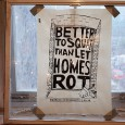 Held in a rather stunning squatted building in East London, the excellent Made Possible by Squatting exhibition sets out to challenge the common media myths and misconceptions of squatters.