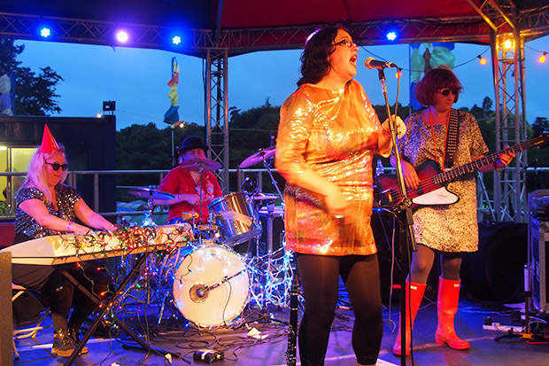 The Mrs Mills Experience headline the bandstand stage at the Beautiful Days Festival - photos