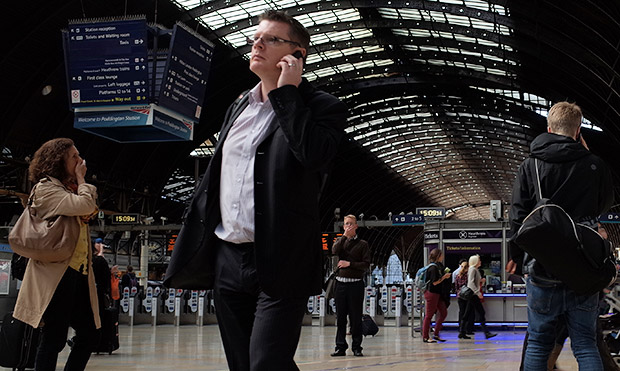Pic of the day: an animated scene at Paddington station