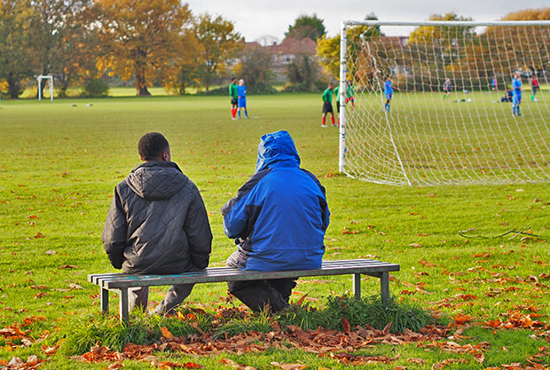 A Saturday afternoon on Enfield Playing Fields, November 2013