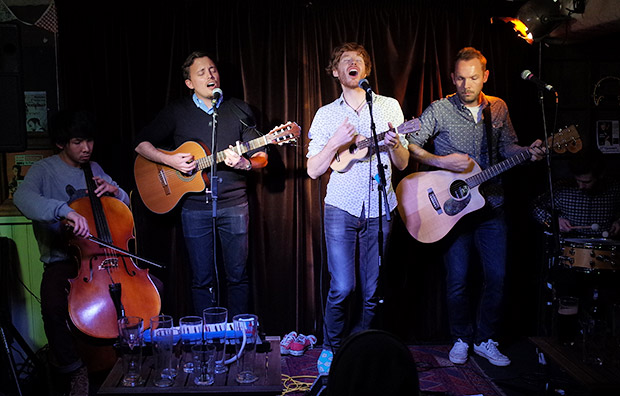 The Lost Cavalry play the delightful Harrisons folk night in central London