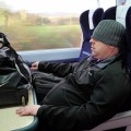 Photo of the day: hat down on the Cardiff train