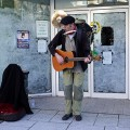 Things you don't see so much: a one man band plus his trade in Cardiff Queen Street