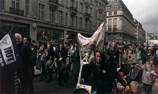 NUT school teachers strike and march through central London, 26 March 2014