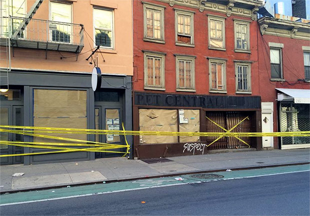 Gentrification in progress - Bleeker Street in NYC gets subverted