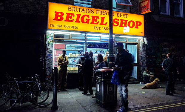 The late night beigel stores of Brick Lane, east London