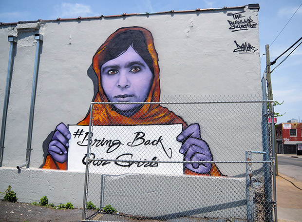 Bring Back Our Girls graffiti by the Bushwick Collective, New York