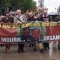 London Mayday march commemorates Tony Benn and Bob Crow