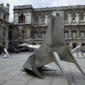Lynn Chadwick Steel Beasts sculptures at the Royal Academy courtyard, Piccadilly, London