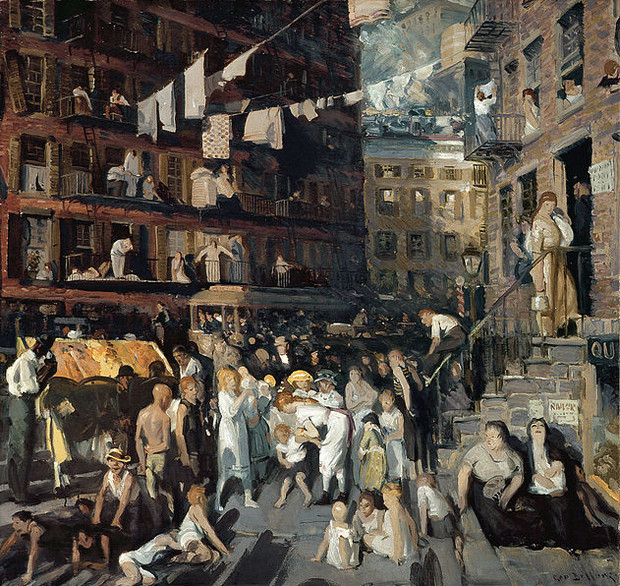 A visit to the National Gallery and a first look at George Bellows wonderful 'Men Of The Docks'