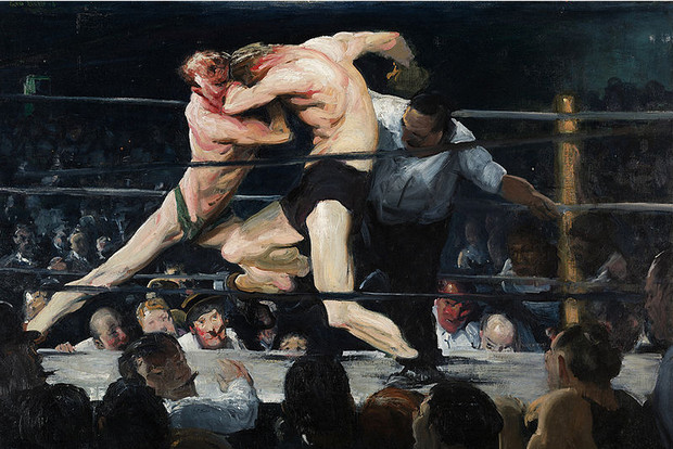 A visit to the National Gallery and a first look at George Bellows' wonderful 'Men Of The Docks'