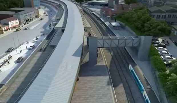 Swishy animation shows off Network Rail's plans for Pontypridd station