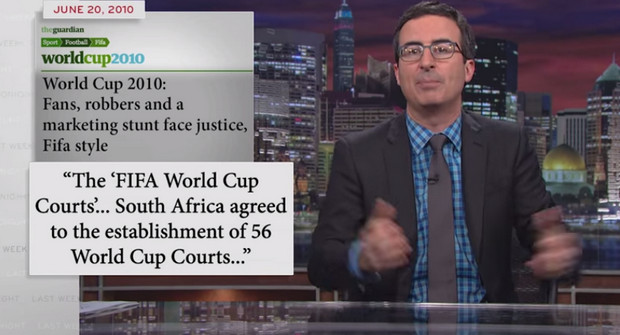 FIFA and the World Cup is torn to shreds by John Oliver on American TV