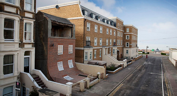 The amazing upside down house in Blackfriars Road, London